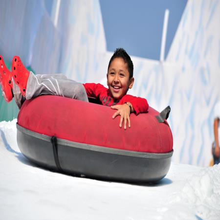 snow tubing, in the summer