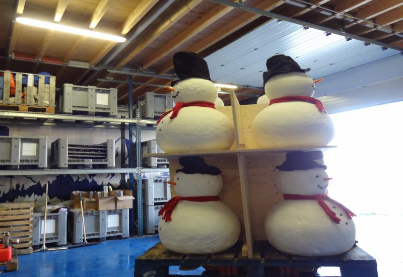 snowman ready for transport