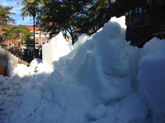 piles of snow bulk