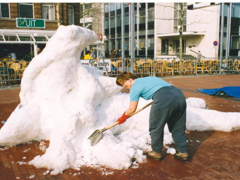 Sculpture being made 1997