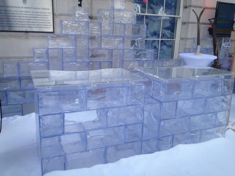 Ice Bar, With dislay snow and fake ice bloks