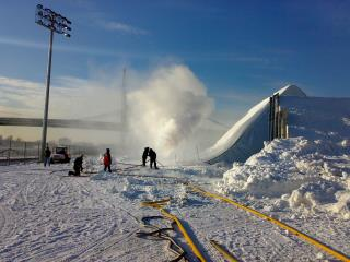 Snowmaking New  York City