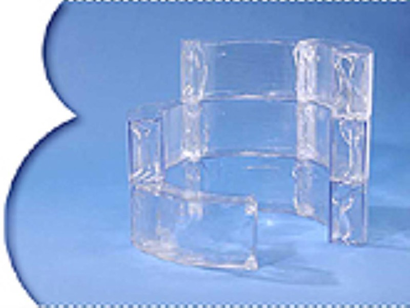 Ice Tower with fake ice blocks