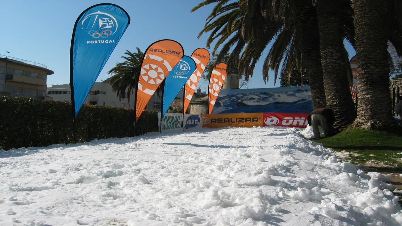 Snow in Portugal in the summer